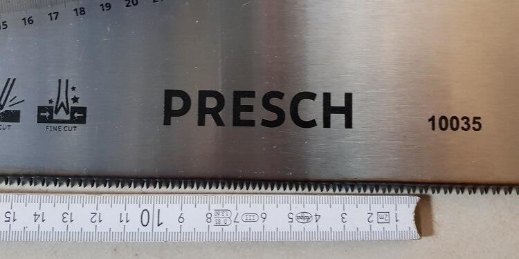 Presch Fuchsschwanz Säge Detail