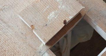 Rechteck in Holz sägen